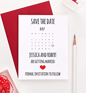 Calender Save the Date, Save the Date Calender, Save the Date Wedding, Save the Date Wedding Invites, Save the Date Personalized, Your choice of Quantity and Envelope Color