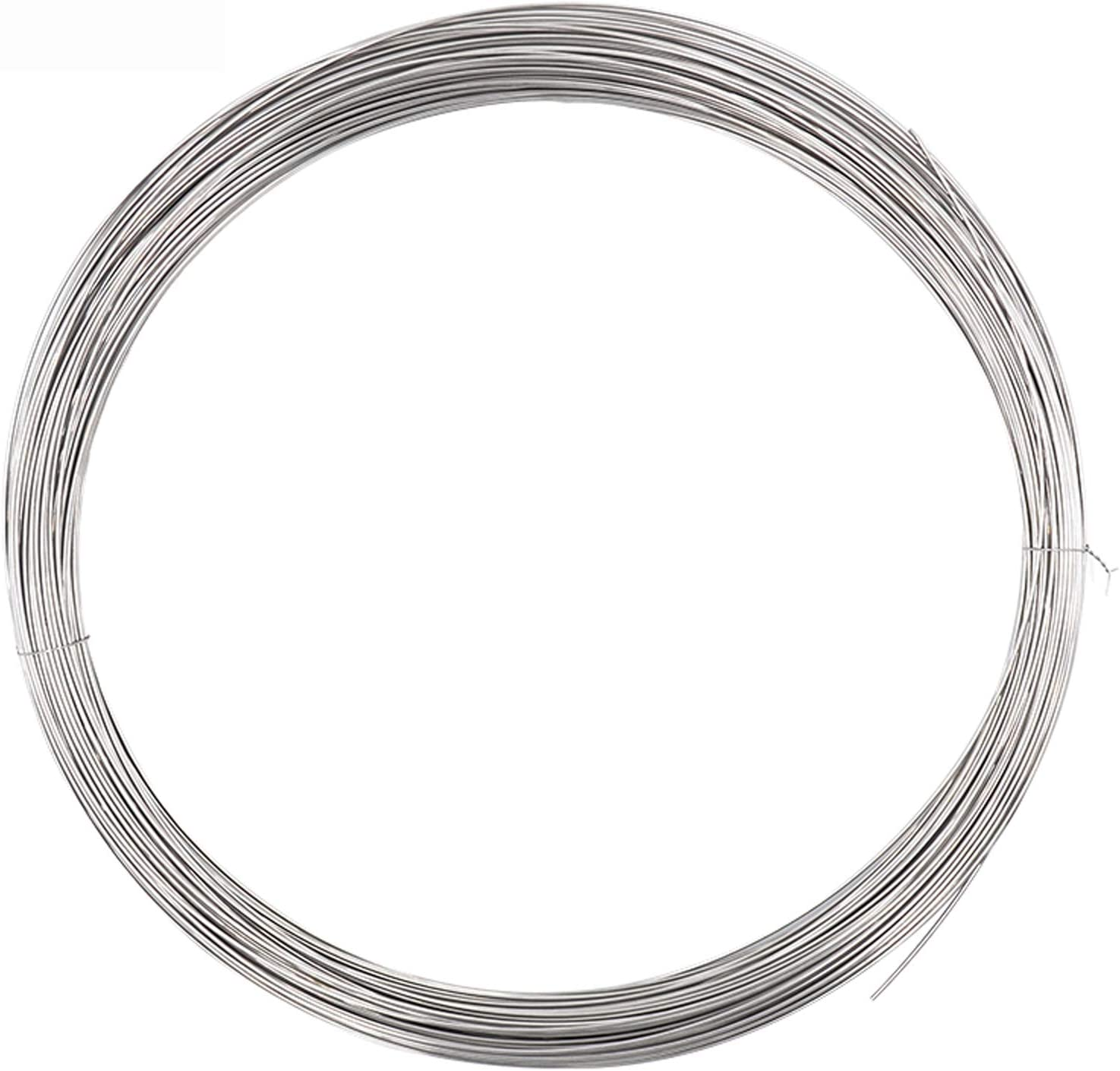,Diameter 1mm Diameter 1//1.2mm Length 20 Meters Suitable for Hardware Accessories IQQI 304 Stainless Steel Wire Medium Hard Wire