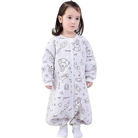 Happy Cherry- Saco de Dormir de Algodón para Bebé Niños Infantil Pijama Entero Transpirable Caliente para Otoño Invierno 1-2.5 TOG - 0-1 Años