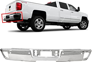 MBI AUTO - Steel Chrome, Rear Step Bumper Face Bar for 2014 2015 2016 2017 2018 Chevy Silverado & GMC Sierra W/Park, GM1102557
