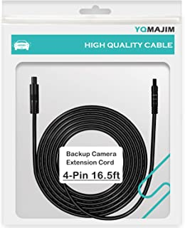 4 Pin Backup Camera Extension Cable,4 Pin 16.5 Ft Dash Cam Extension Cord 4 Pin Camera Cable for Reverse Camera Car Recorder Rear View Camera(16.5ft)
