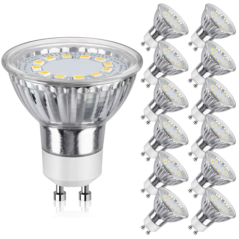 6 Pack 120V 50W Flood Light Bulb GU10 Halogen Bulb 5000K Daylight White