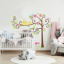 wall decal owl tree