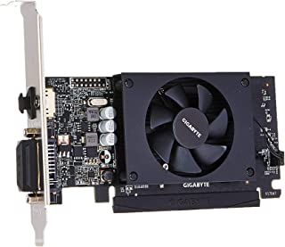 Gigabyte GV-N710D5-2GL GeForce GT 710 2GB GDDR5 - Tarjeta gráfica (GeForce GT 710, 2 GB, GDDR5, 64 bit, 4096 x 2160 Pixeles, PCI Express x8 2.0)