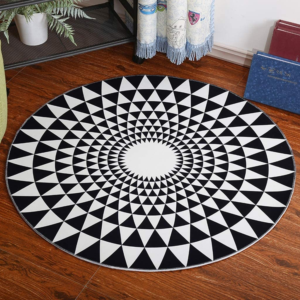 New Free Shipping YUXO Round Area Rugs Soft Carpet Kids Modern Simple Max 44% OFF D Home