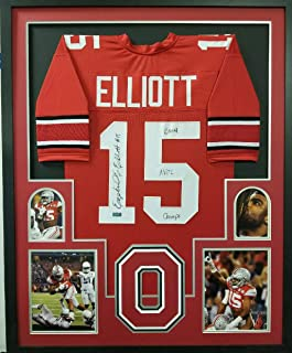 9206636c1f1 Ezekiel Elliott Ohio State Buckeyes Autograph Signed Custom Framed Black  Jersey 4 PIC National Champs INSCRIBED