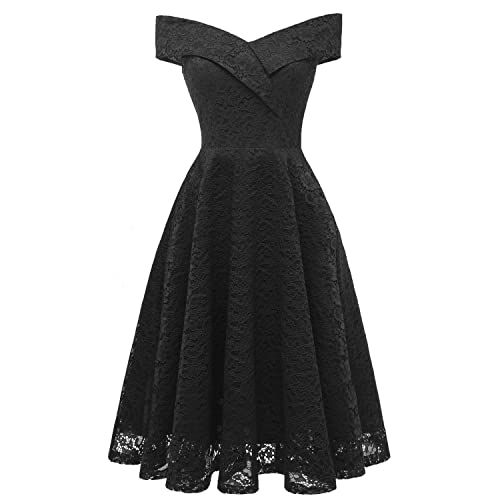 2ecfedacb0c Laorchid Women s Lace Princess Dress Swing Cocktail Evening Knee Length
