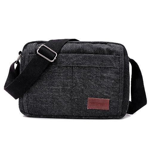 08a3e27d75d SUPA MODERN® Canvas Satchel Bag Messenger bag Retro Lightweight Small  Shoulder bag MINI Ipad Bag
