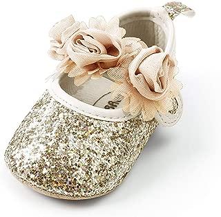 Royal Victory Baby Girl Moccasins Princess Sparkly Premium Lightweight Soft Sole Prewalker Toddler Shoes