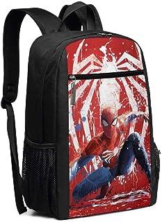 BUGKHD Mochila de viaje para portátil con diseño de Spider Man College y bolsa de ordenador para mujer y hombre