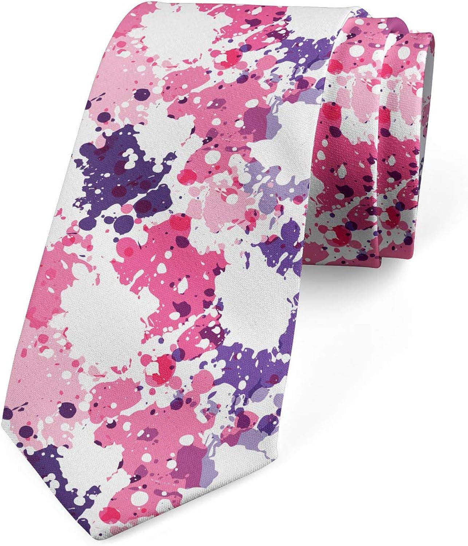 Ambesonne Necktie, Paint Stains, Dress Tie, 3.7