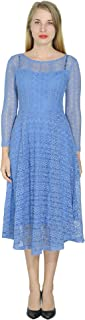 Marycrafts Women's Formal Midi Lace Dresses Cocktail Guest Party