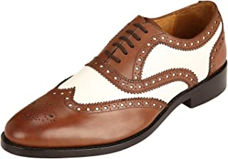 Men's Genuine Imported Leather with Leather Sole English Goodyear Welted Oxford Dress Shoes