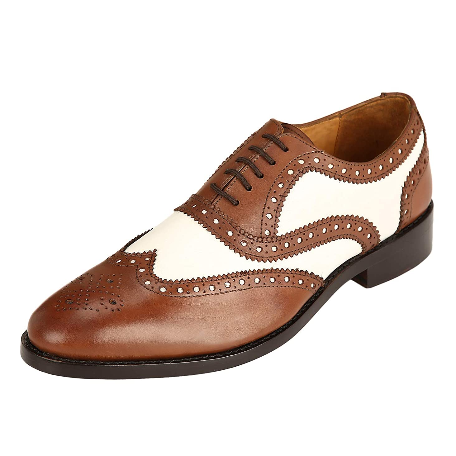 DLT Men's Genuine Imported Leather with Leather Sole English Goodyear Welted Oxford Dress Shoes