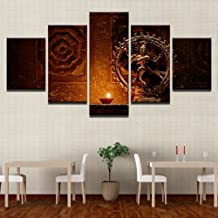 Shiva Nataraja Painting Canvas Printed Wall Art Poster 5 Pieces/5 Panel Wall Decor, Home Decor Pictures