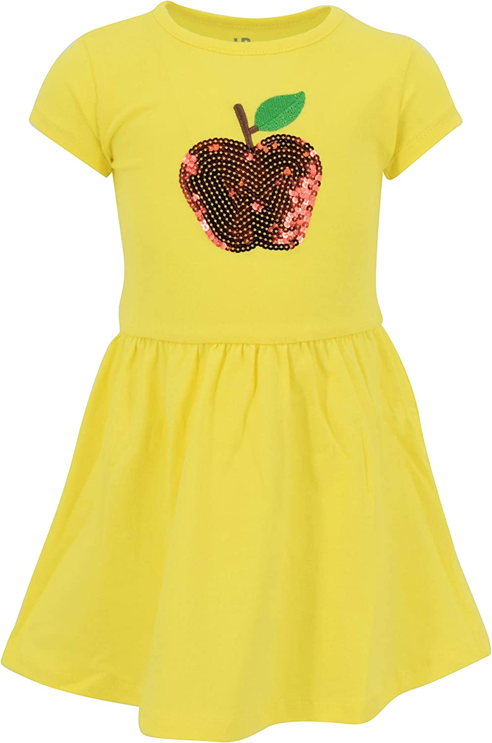 Unique Las Vegas Mall Dealing full price reduction Baby Girls Back to Outfit Apple School Dress Sequins