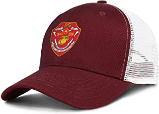 Printed Mens Baseball Caps 3rd Battalion 25th Marine Regiment of United States Mariners Corps Mesh Trucker Dad Hat