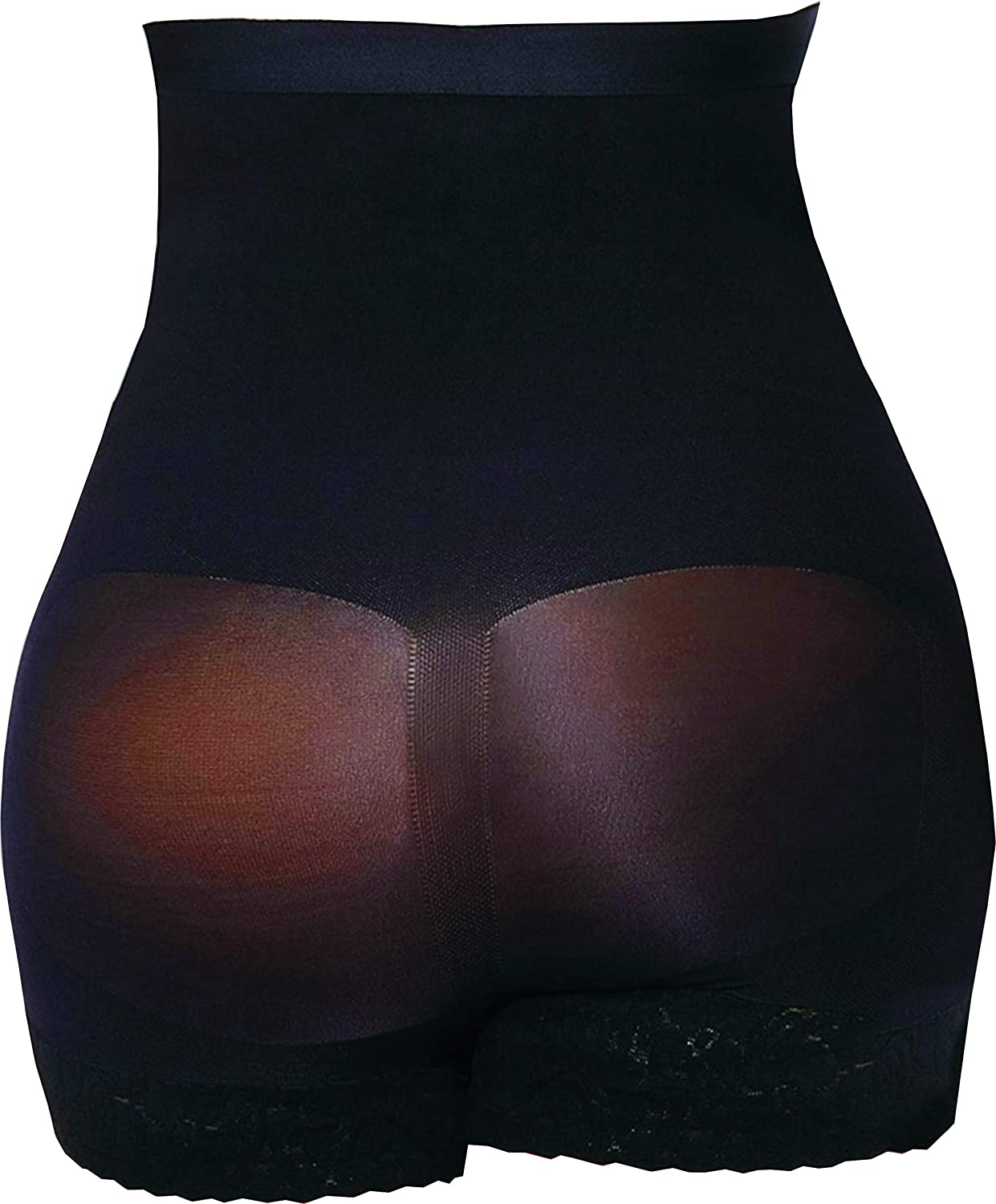 ShapEager Body Briefer Plus Size Tummy Girl Short Above-Knee Anti-Slip Silicone Band Faja