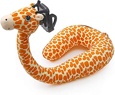 Bigsweety U-Shaped Pillow Mobile Phone Stand, Mobile Phone Holder on Lazy Bed, Giraffe Neck Pillow, Adjustable, Compatible with Mobile Phone