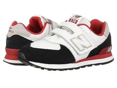New Balance Kids 574 Summer Sport (Little Kid/Big Kid) (Black/Team Red) Boys Shoes