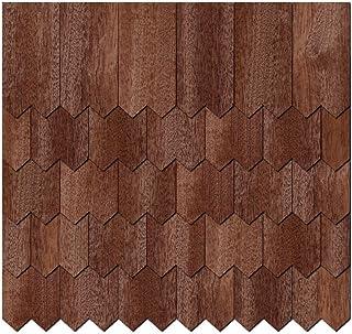 Chapa de madera auténtica Tejas oscuros. – dentadas Forma – Tamaños y cantidad de selección