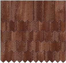 Chapa de madera auténtica Tejas oscuros.–dentadas Forma–Tamaños y cantidad de selección de, 50 unidades, 35mm x 17.5mm