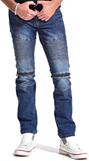 Men's Moto Distressed Five Pockets Stretch Slim Fit Jeans 900 Series