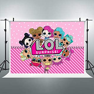 Hot Pink Stripes Backdrop Kids Cartoon Girls Polka Dot Photography Background 7X5ft Newborn Birthday Party Decorations Baby Shower Props Photo Shoot Blush Vinyl Cloth