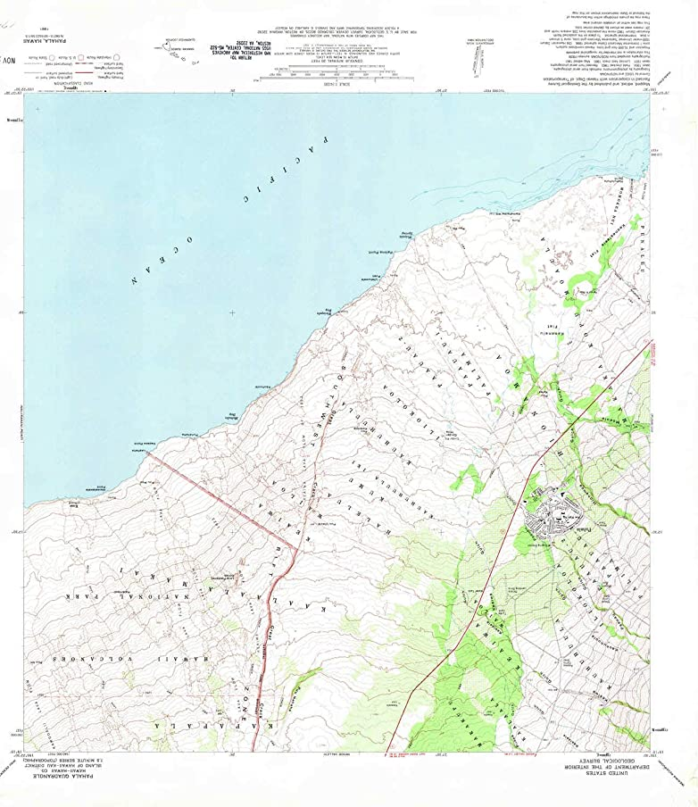 YellowMaps Pahala HI topo map, 1:24000 Scale, 7.5 X 7.5 Minute, Historical, 1981, Updated 1981, 27.8 x 24 in