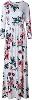 Spring Long Dress Fl Print Boho Beach Dress Tunic Maxi Dress Party Dress Sundress