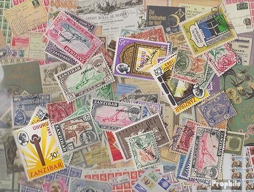 Zanzibar 50 différents Timbres (Timbres pour Les collectionneurs)