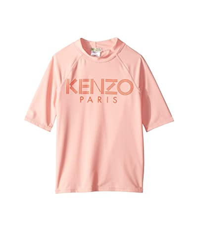 Kenzo Kids Logo Rashguard (Big Kids) (Middle Pink) Girl