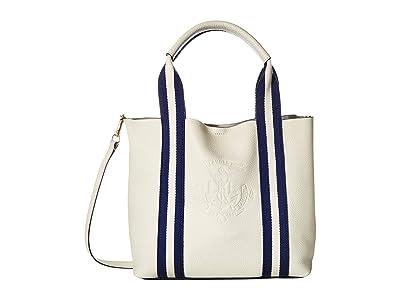 LAUREN Ralph Lauren Huntley Harper 27 Small Tote (Vanilla) Handbags