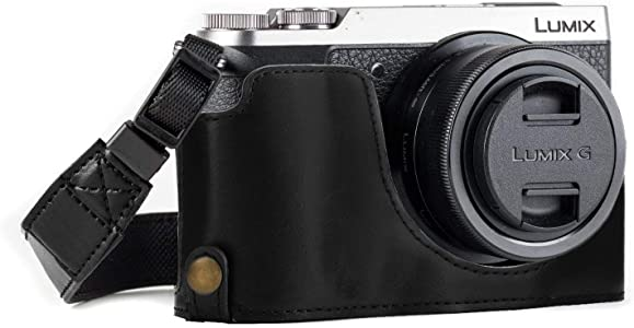 MegaGear Ever Ready Leather Camera Half Case compatible with Panasonic...