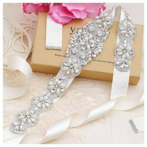 b95a070fb43c Yanstar Handmade Rhinestone belt Wedding Bridal Belt Sashes For Bridesmaid  Dress…