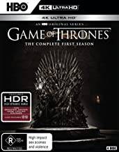 Game of Thrones Season 1 4K UHD Blu-ray | NON-USA Format | Region B Import - Australia