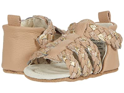Robeez Rae First Kicks (Infant) (Nude/Gold) Girls Shoes