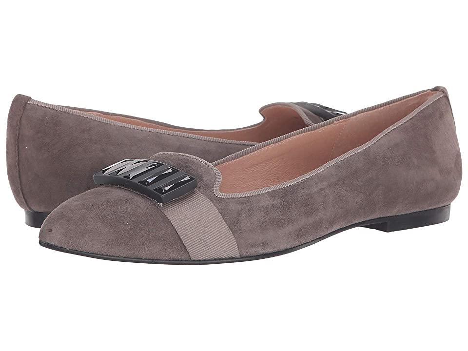 French Sole Chop Flat (Grey Suede) Women