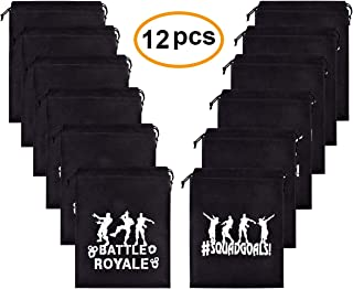 12 Pack Gaming Drawstring Bags Party Favor Loot Gift Goodie Bags Party Supplies