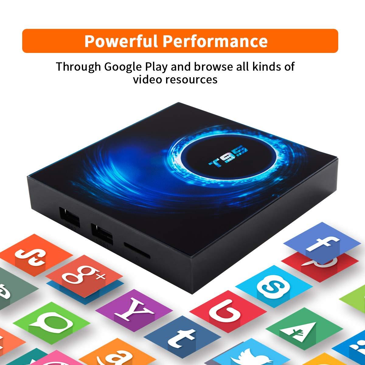 Android TV Box, Android 10.0 TV Box 4GB RAM 64GB ROM Allwinner H616 Quad-Core 64bit,Smart TV Box Soporte 2.4G/5GHz WiFi 6K / 4K Ultra HD / 3D / H.265 Android Box: Amazon.es:
