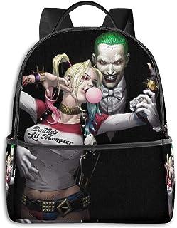 Harley Quinn and Joker - Mochila unisex con estampado de dibujos animados, 36,8 x 30,5 x 12,7 cm