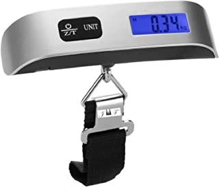 Luggage Scale Hand Scale Holds Up to 110 lb w/Temperature Sensor Tare Function Gift for Traveler