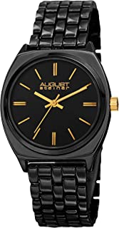 August Steiner Men's Bright Colored Watch - Sunray Dial Display Japanese Quartz Watch on Stainless Steel Bracelet - AS8186