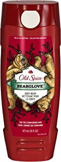 Body Wash for Men by Old Spice, Wild Collection Men's Body Wash, Bearglove, 16 Fl Oz (Pack of 4)