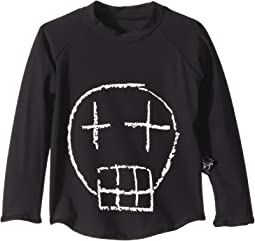 Sketch Skull Long-Sleeved Rashguard (Infant/Toddler/Little Kids)