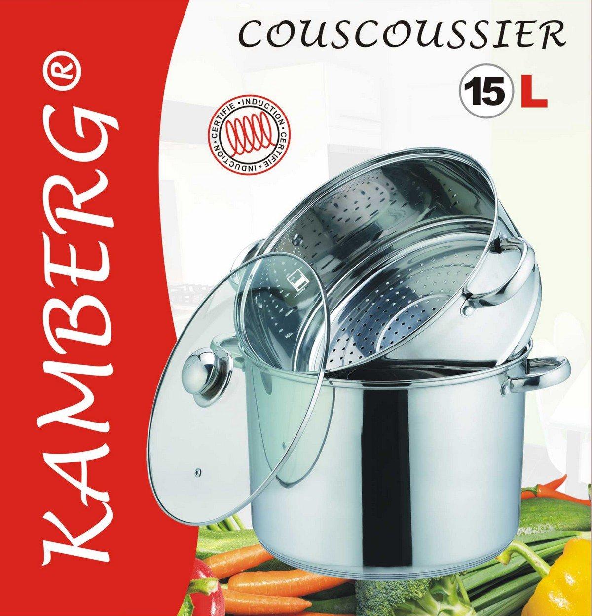 Kamberg - 0008074 - Cuscusera / Al vapor / Olla - 3 en 1 - 30 cm ...