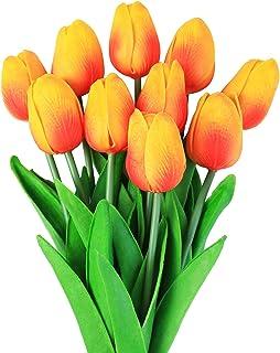 comprar comparacion Veryhome 10 unids Tulipanes Artificiales Tulipanes Flores Reales Falsas para la decoración de la Boda del Partido del Hote...