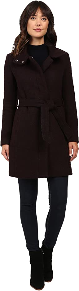 """Tristina 35"""" Brushed Twill Trench Coat"""