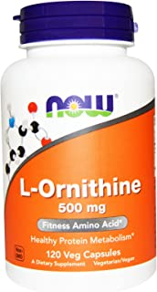 Now Foods L-Ornithine 500 mg - 120 VegiCaps 2 Pack