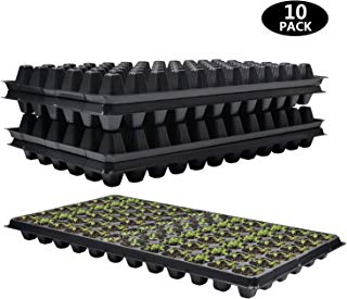 10 Pack Seed Starter Kit 72 Cell Gardening Germination Tray - Plug Tray Starting Trays for Seedling Germination Enhance Aeration